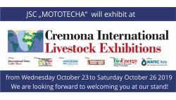 Visit us at Cremona, 23. - 26. October 2019