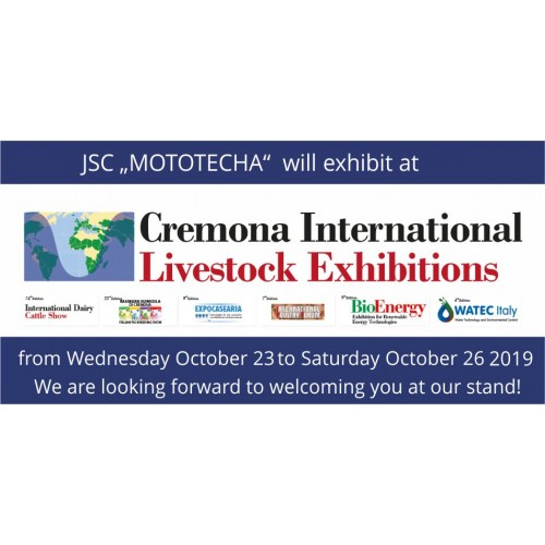 Visit us at Cremona, 23. - 26. October 2019