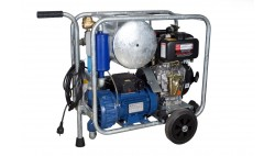 Mobile diesel/electric vacuum unit MOOTECH-D/E450L