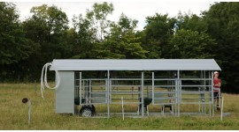 Mobile milking parlour MOOTECH-4  with equipment cabinet