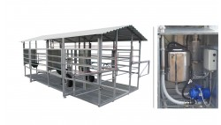 Mobile milking parlour MOOTECH-4 with receiving jar