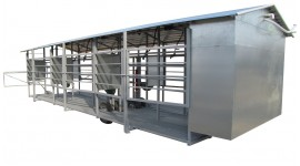 Mobile milking parlour MOOTECH-6 with equipment cabinet