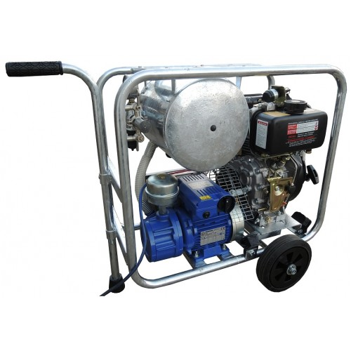 Mobile diesel/electric vacuum unit MOOTECH-D/E200D