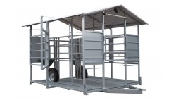 Mobile milking parlour system for up to 20 cows milking to S/S milk tank