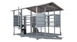 Mobile milking parlour system for up to 20 cows milking to buckets