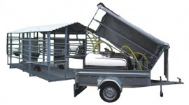 Mobile milking system recommended for up to  20 cows
