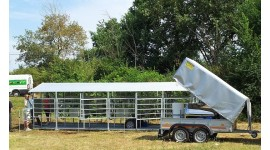 Mobile milking parlour system from 50 up to 100 cows milking to S/S milk tank
