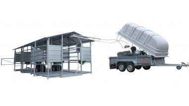 Mobile milking to vacuumed S/S tank