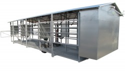 MOBILE MILKING PARLOUR MOTECH6 with equipment cabinet